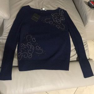 NWT navy blue st. john sweater top